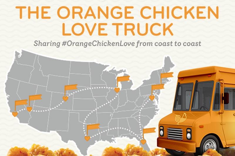 Orange Chicken Love Truck